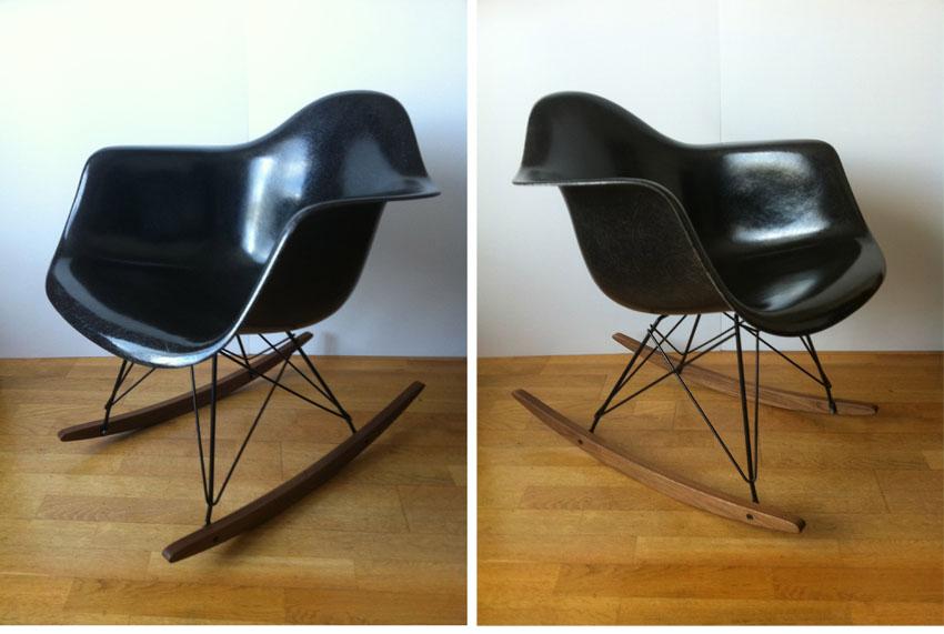 Vintage eames herman miller ghyczy garden egg chair 70 39 s for Fauteuil rar eames fibre de verre
